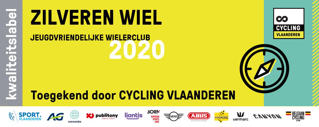 Zilveren jeugdlabel Cycling Vlaanderen